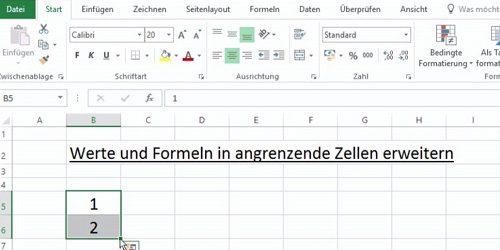 Excel Werte und Formeln dynamisch kopieren 01