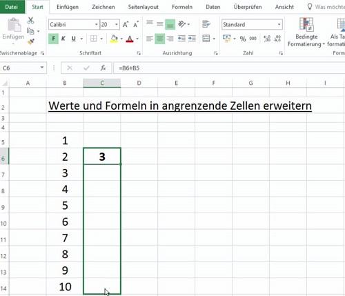 Excel Werte und Formeln dynamisch kopieren 03