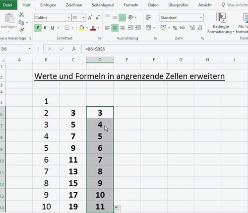 Excel Werte und Formeln dynamisch kopieren 04