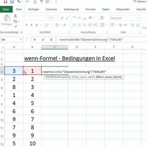 Wenn Formel