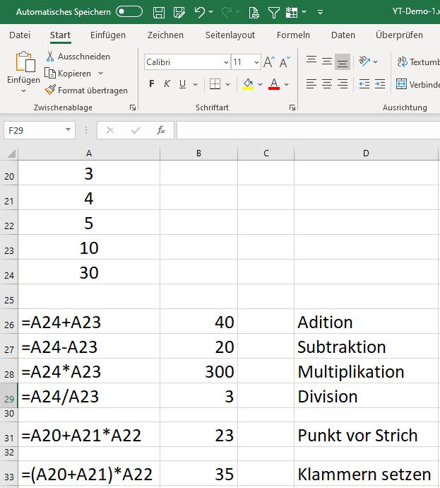 03 - Excel Formeln Zellbezug