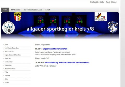 Sportkegeln-Ergebnisse Screenshot
